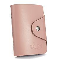 Картхолдер шкіряний (візитниця) HC-20 (світло-рожевий)