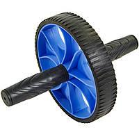 Колесо для пресса одинарное ролик для пресса Zelart 4244 Blue-Black d-17,5см