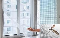 Антимоскитная сетка на окно MAGNETIC 150х180 см| Москитная сетка на окно с лентой для крепления NO9213