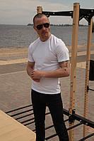 Базовая футболка белая мужская Olymp, хлопковая футболка