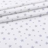 """Відріз фланелі """"Зоряна розсип"""" сіра на білому, розмір 55 * 240 см, фото 2"""
