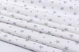 """Відріз фланелі """"Зоряна розсип"""" сіра на білому, розмір 55 * 240 см, фото 4"""