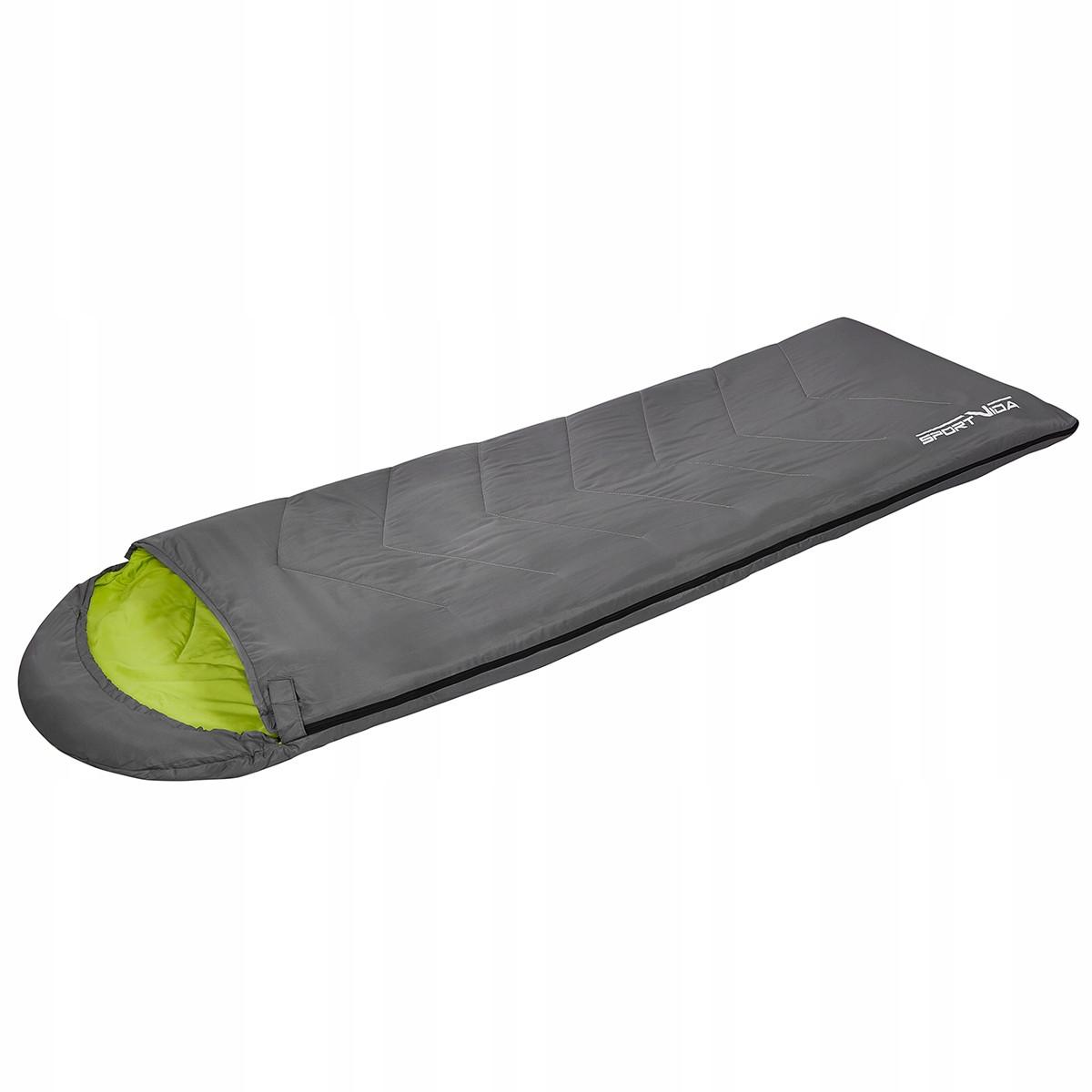 Спальний мішок-ковдра SportVida SV-CC0015 Grey/Green (спальник)