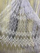 Шикарный фатиновый тюль  111269 белая остаток