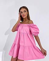 Жіноче літнє коттоновое сукню з відкритими плечима (Норма), фото 6