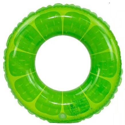 """Детский надувной Круг для плавания """"Цитрус"""" диаметром 60 см Зеленый от 5 лет"""