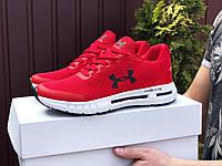 Повседневные мужские кроссовки из сетки летние легкие спортивные яркие кросовки красные