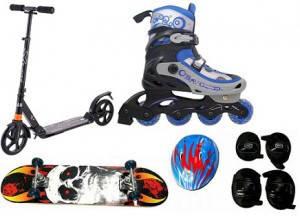 Ролики, скейты, самокаты, защита