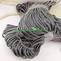 Шнур поліефірний сірий м'який для в'язання 5мм 100м handmade