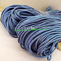 Шнур поліефірний блакитний м'який для в'язання 5мм 100м handmade