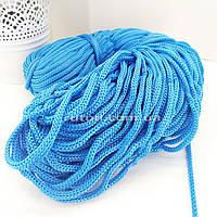 5 мм 85 м блакитний Шнур поліефірний без сердечника ХендМейд для в'язання килимків та сумок
