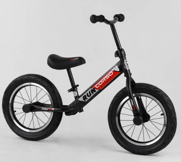"""Детский велобег-беговел  14"""" CORSO CR-5136  черно-красный"""