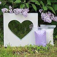 """Набір для весільної пісочної церемонії: Рамка """"Серце"""" + пісок, фото 1"""