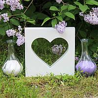 """Набір для весільної пісочної церемонії: Рамка """"Серце"""", фото 1"""