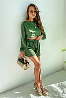 ✔️Модный летний коттоновый костюм свободный блуза и шорты 42-48 размеры разные расцветки