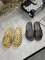 Женские Сланцы Louis Vuitton Коричневые, Реплика Люкс, фото 1