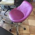 Косметичне крісло , крісло майстра код 931 стрази , шкірзам колір на вибір ., фото 3