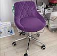 Косметичне крісло , крісло майстра код 931 стрази , шкірзам колір на вибір ., фото 5