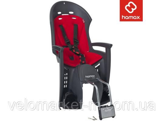 Дитяче велокрісло Hamax Smiley grey red
