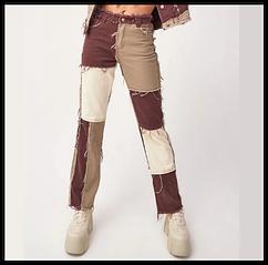 Джинсы женские прямые в  ковбойском стиле