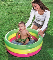 Надувной детский бассейн с надувным дном 70-24см, 42л, Bestway для детей от 1 года