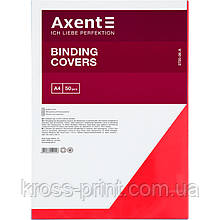 Обкладинка пластикова Axent 2720-06-A прозора, А4, 50 штук, червона