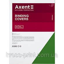 """Обкладинка картонна Axent 2730-04-A """"під шкіру"""", А4, 50 штук, зелена"""