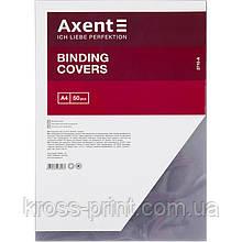 Обкладинка пластикова Axent 2710-A прозора, А4, 50 штук, чорна