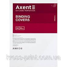 """Обкладинка картонна Axent 2730-21-A """"під шкіру"""", А4, 50 штук, біла"""