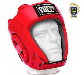"""Шлем лицензированный федерацией бокса Украины р S  """"UBF"""" Green Hill"""