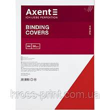 """Обкладинка картонна Axent 2730-06-A """"під шкіру"""", А4, 50 штук, червона"""