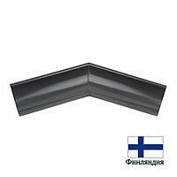 Угол желоба внешний металлический 135°, 125мм, графит