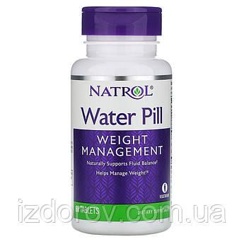 Natrol, Мочегонное средство, Water Pill, 60 таблеток