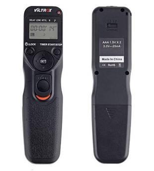 Проводной пульт управления тросик Viltrox с таймером и LCD - MC-C1 (аналог RS-60E3) для CANON программируемый