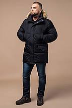 Комфортная куртка мужская зимняя чёрная модель 10055, фото 2