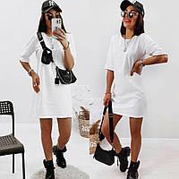 Яркое модное летнее женское белое платье,, фото 1