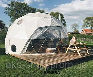 Геокупол  Шатер сфера диаметр 6м, высота 3,5м, площадь 27 кв/м
