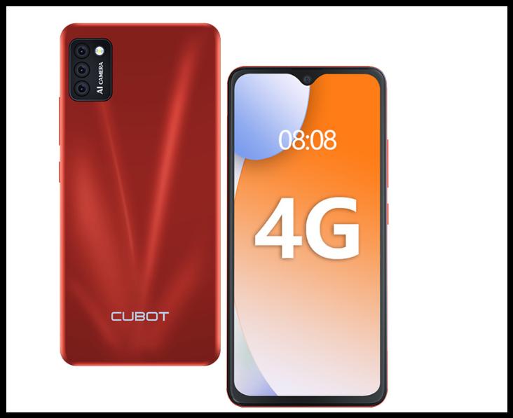 Смартфон Cubot Note 7  Android 10  face id и сканер отпечатка  3100 мАч Батарея красный