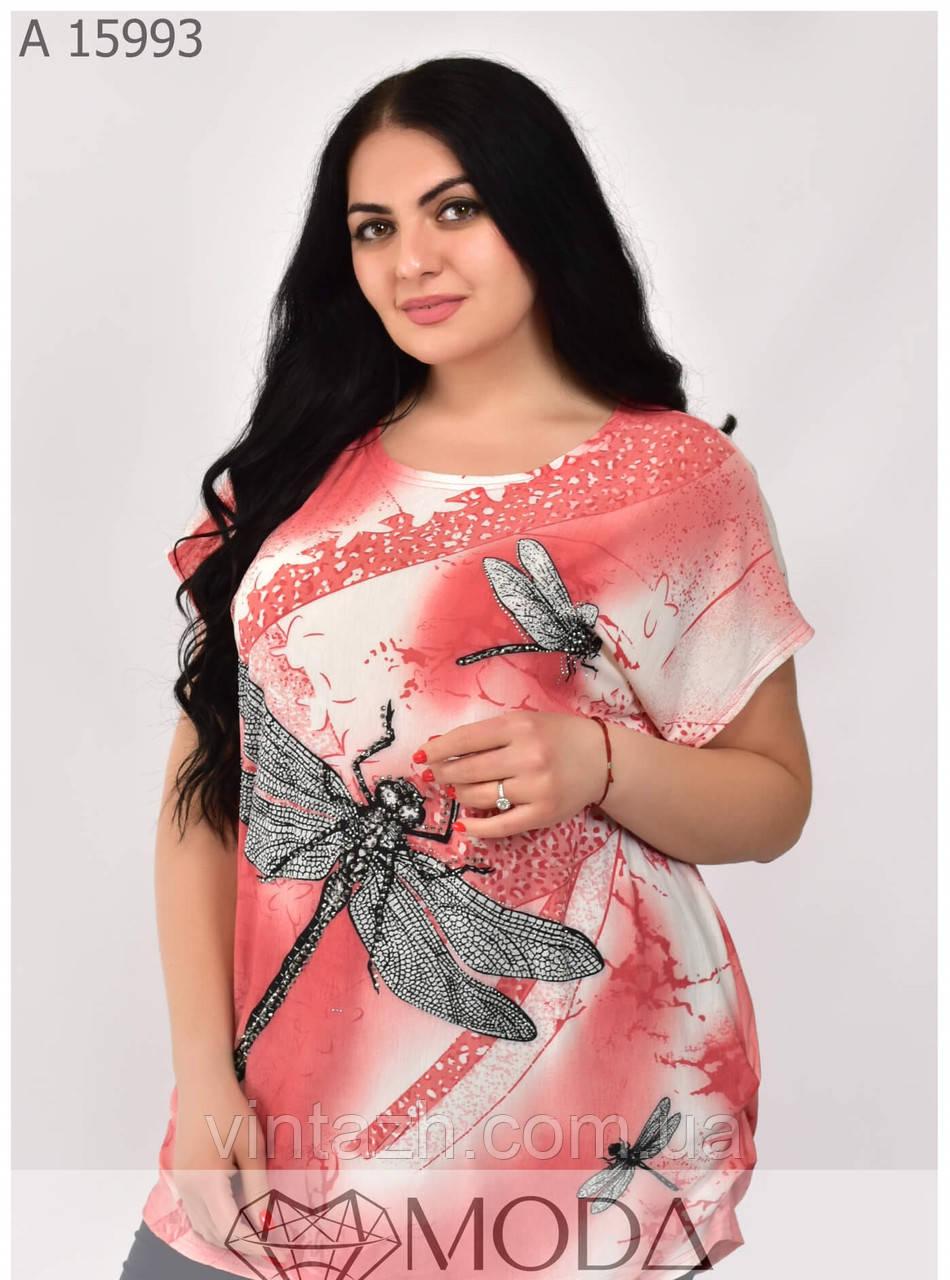 Летняя футболка на женщин размеры 56-62