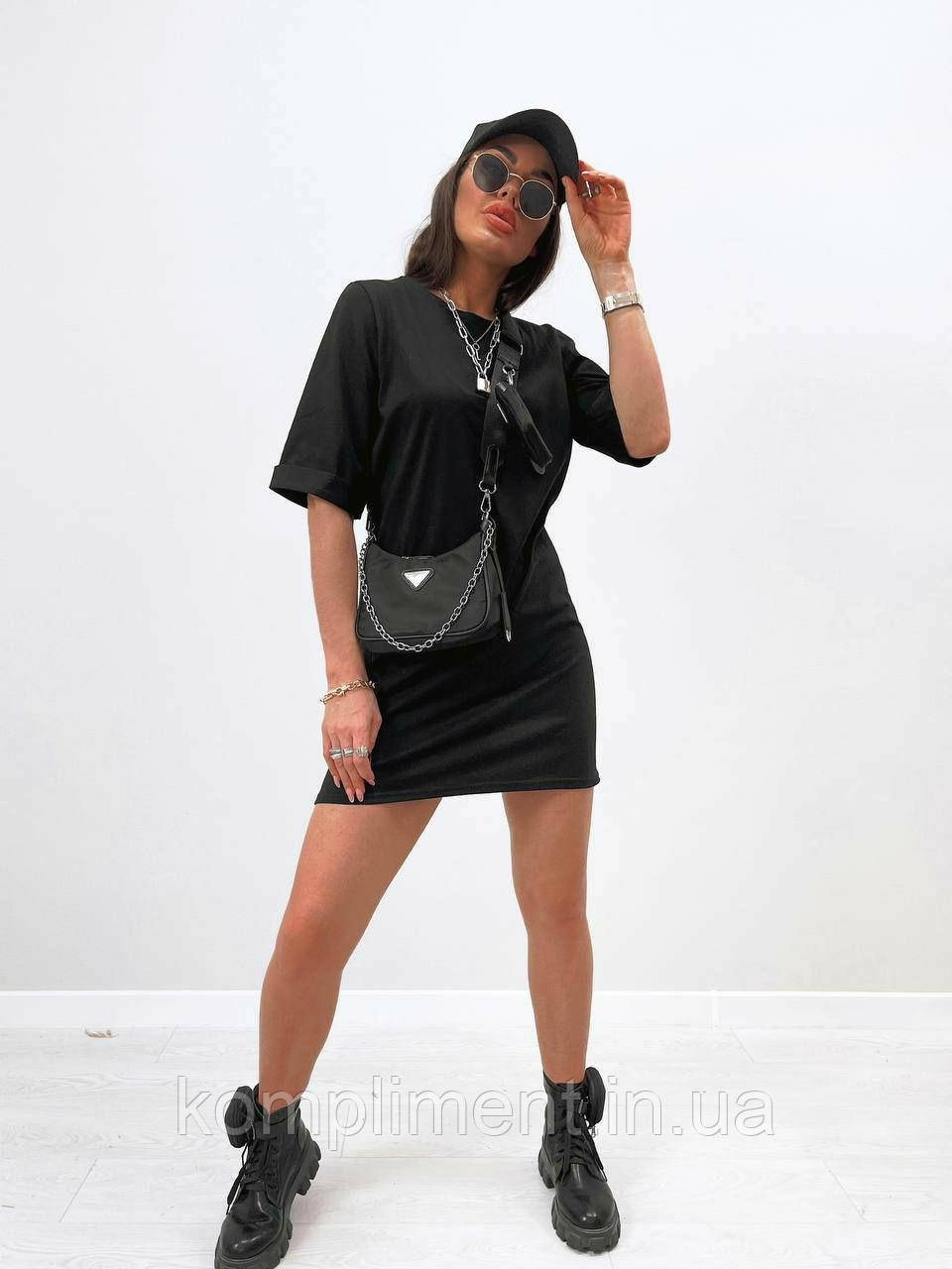 Шикарное модное летнее женское черное платье, MI 1012