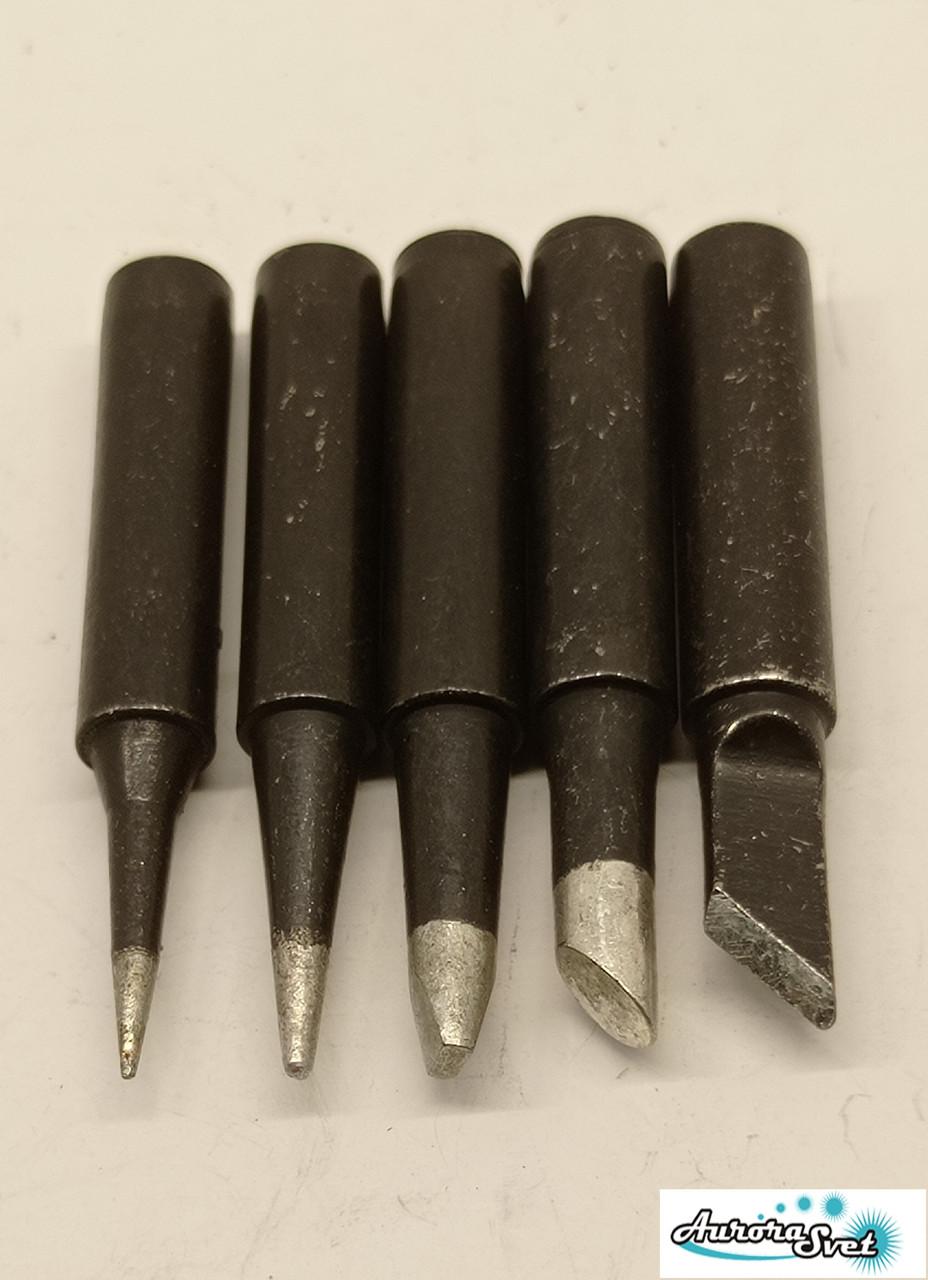 Наконечник Жало для паяльника чорні набір з 5 шт. 900M -T-4C 900M-T-K 900M-T-B 900M-T-I 900M-T-2.4 D