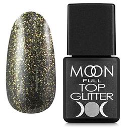 MOON FULL Top Glitter Gold №02 - топ для гель лаку, 8 мл.