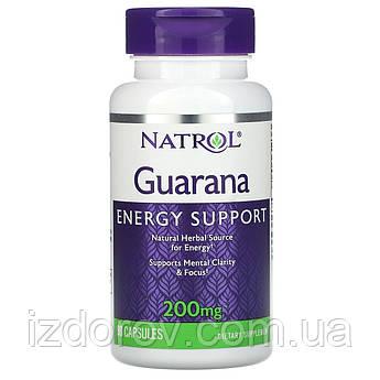 Natrol, Гуарана, 200 мг, Guarana, 90 капсул