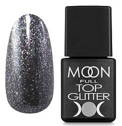 MOON FULL Top Glitter Silver №03 - топ для гель лаку, 8 мл.
