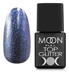 MOON FULL Top Glitter Blue №04 - топ для гель лаку, 8 мл.