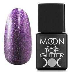 MOON FULL Top Glitter Violet №05 - топ для гель лаку, 8 мл.
