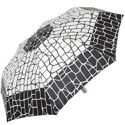 Зонт складной Doppler 74665GFGGZ-6 полный автомат черный с квадратами, фото 2