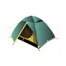Палатка туристическая двухместная Tramp TRT-055 Scout 2 v2 (2500x2200x1200мм), зеленая