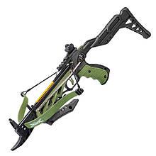 Арбалет пистолетного типа Man Kung MK-TCS2G (длина: 620мм, сила натяжения: 18кг), зеленый