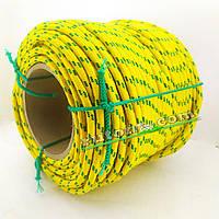 Фал плетений з міцною серцевиною 8 мм 100 м 16ті прядная конструкція 250кг на розрив